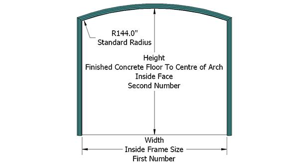 Camber Top Garage Door Frame 4 9 16 Jamb Depth